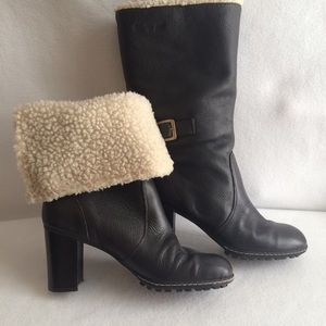 Tommy Girl Convertible Boots Brown Leather Fleece